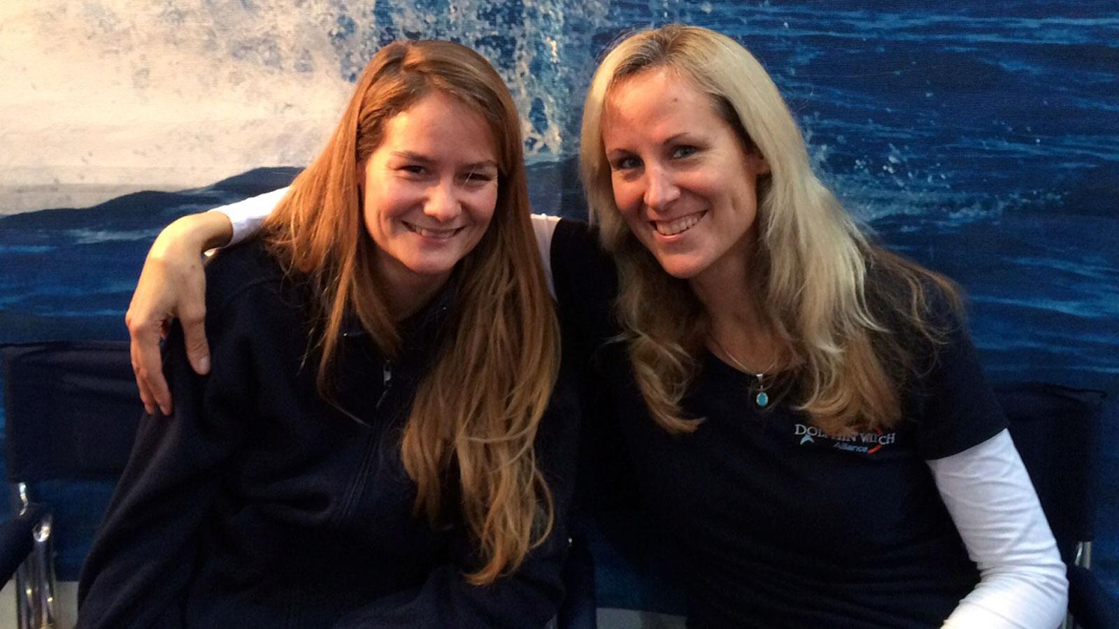 Sina Kreiker und Angela Ziltener an der Boot 2015