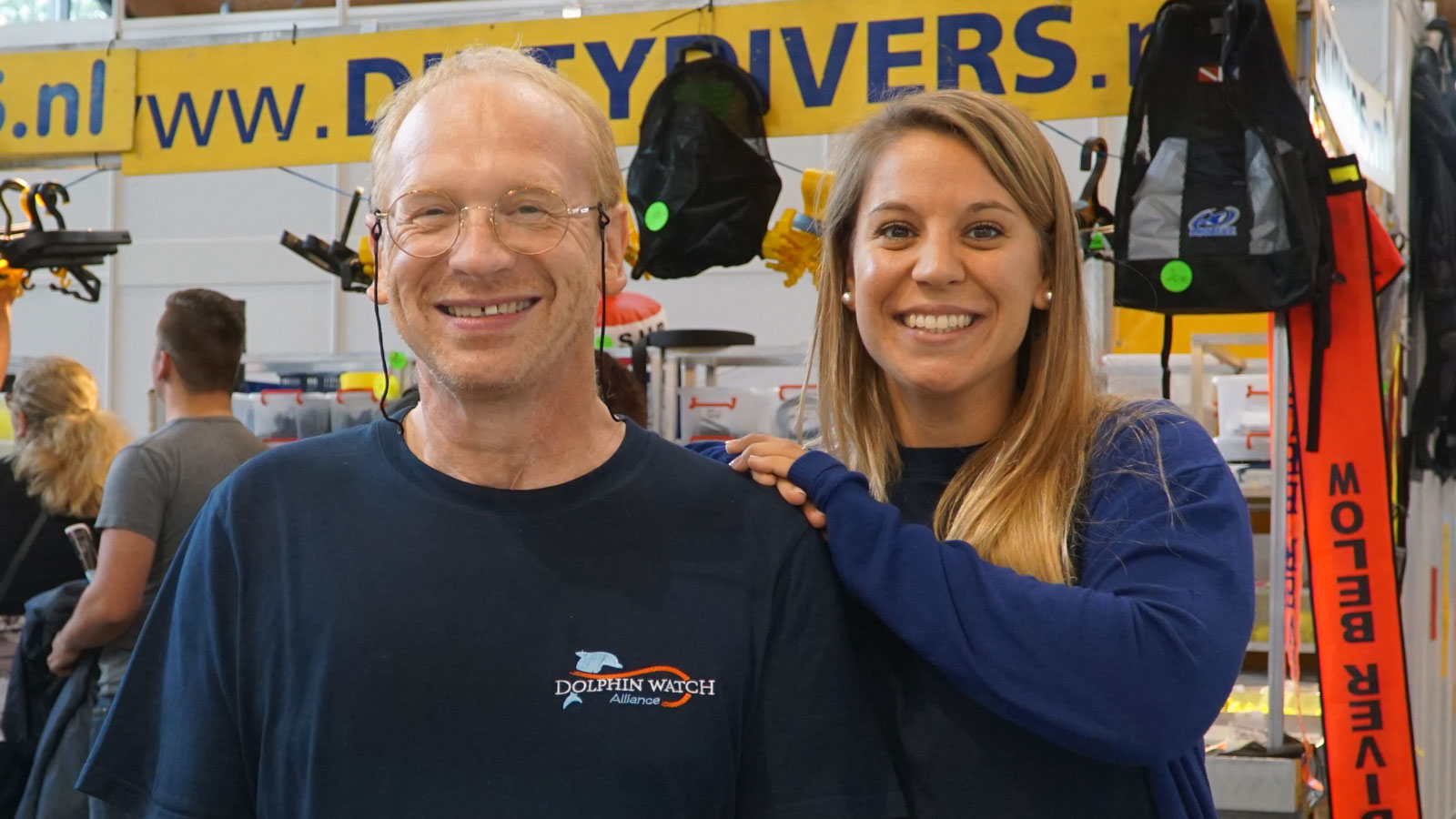 Team at the InterDive: Marcus Gisi and Sandra Gross