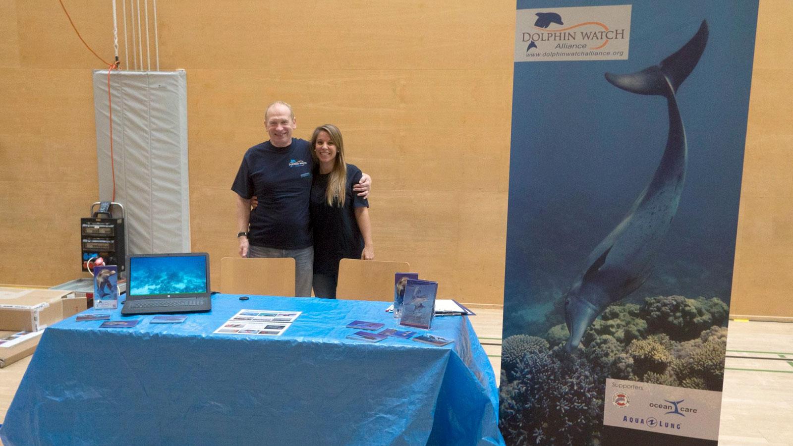 Sandra Gross und Marcus Gisi am Unterwasserfestival in Gossau