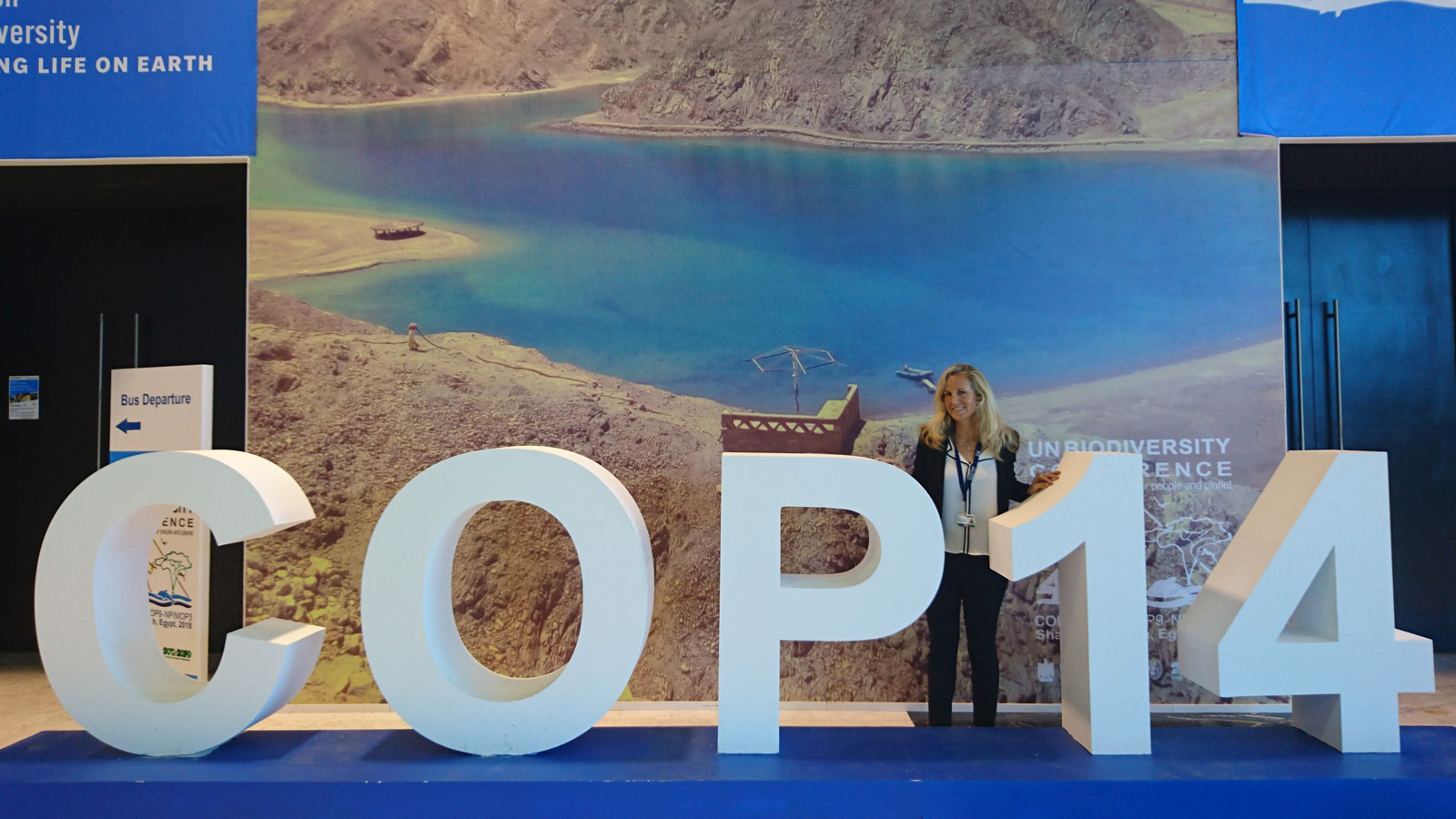 Angela Ziltener an der UN Biodiversity Conference in Sharm El Sheikh