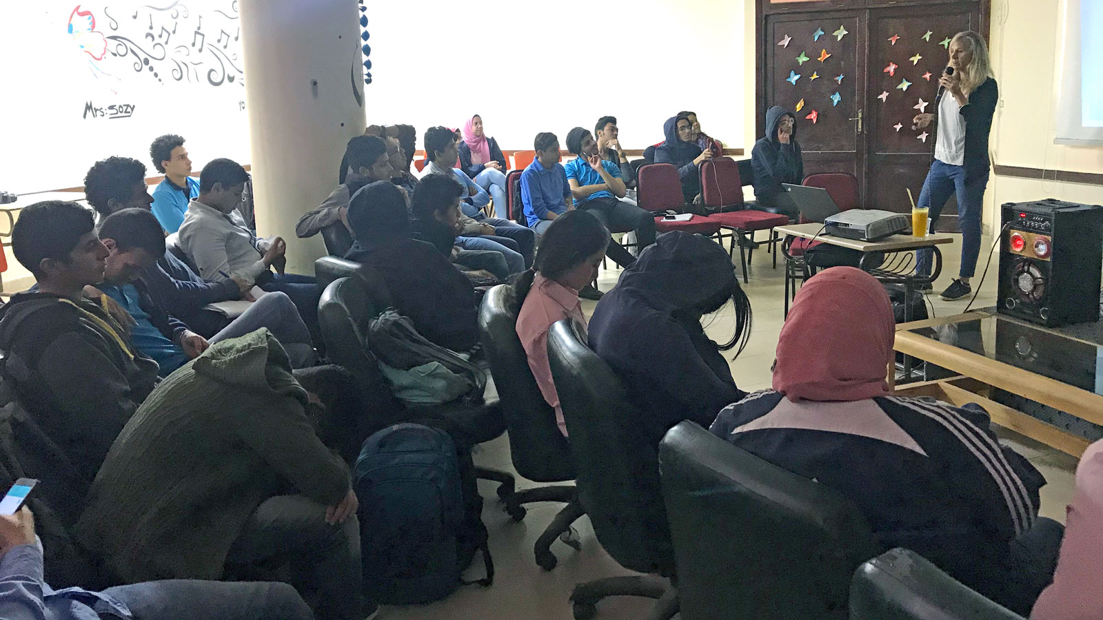 Lecture by Angela Ziltener at the Red Sea STEM School, Hurghada