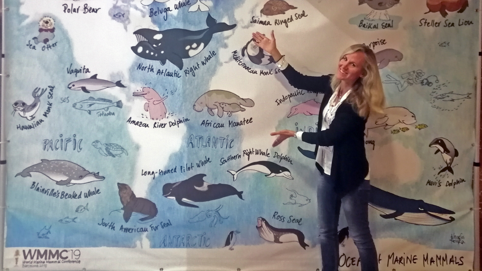 Angela Ziltener am World Marine Mammal Conference in Barcelona